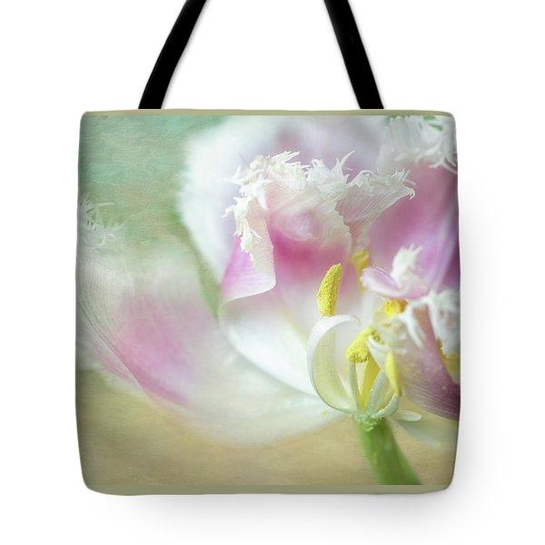 Textured Tulip Tote Bag