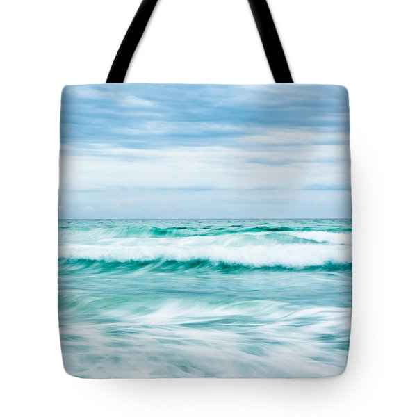 Textures In The Waves Tote Bag by Shelby  Young