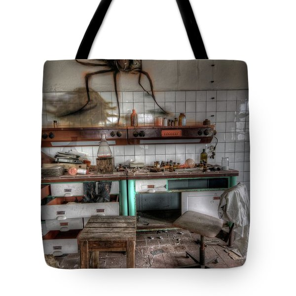 Th Mad Scientist  Tote Bag by Nathan Wright
