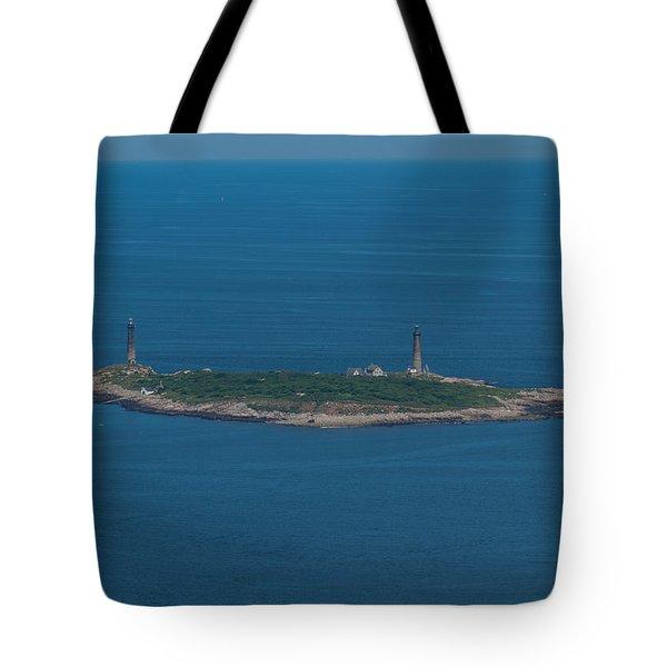 Thacher Island Lights Tote Bag