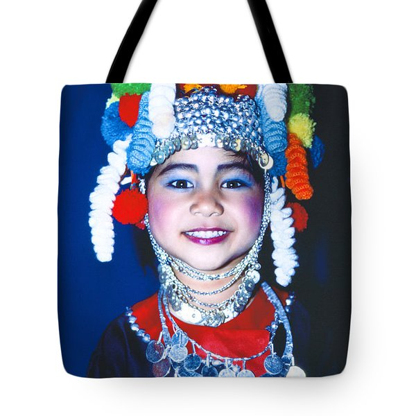Tote Bag featuring the photograph Thai Girl Traditionally Dressed by Heiko Koehrer-Wagner