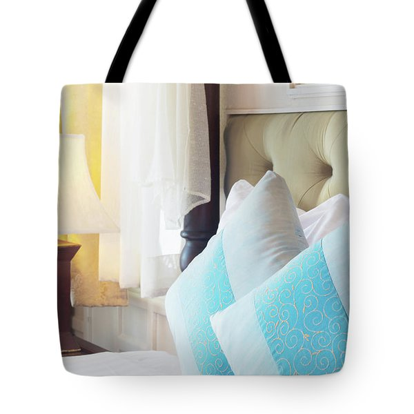 Tote Bag featuring the photograph Thai Style Bedroom by Atiketta Sangasaeng