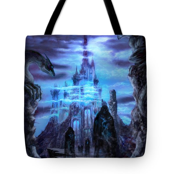 Tote Bag featuring the mixed media Thangorodrim by Curtiss Shaffer