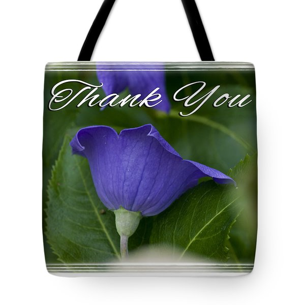 Thank You Balloon Tote Bag