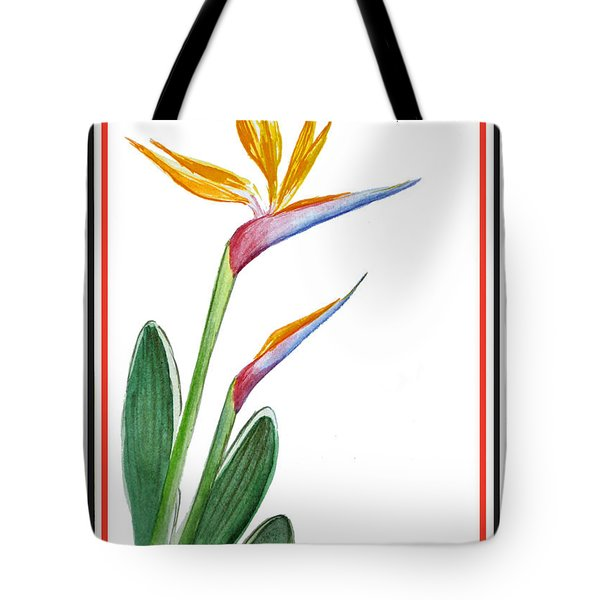 Thank You Bird Of Paradise Tote Bag