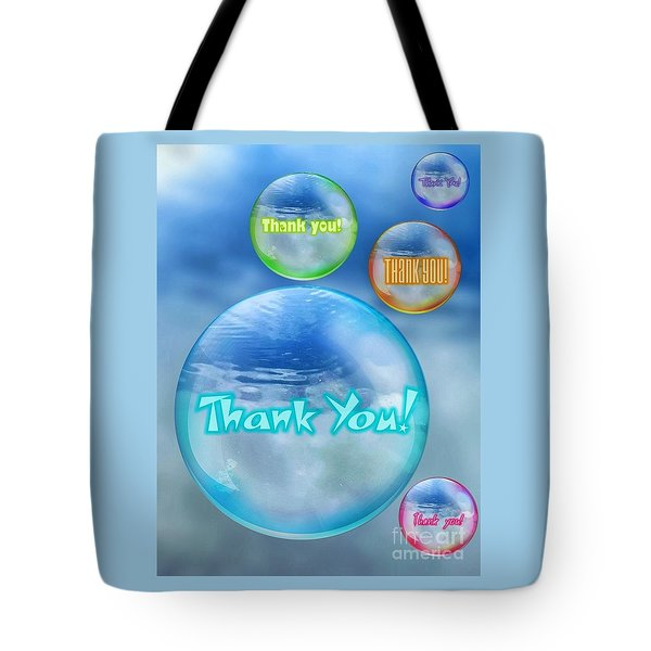 Thank You Bubbles Tote Bag