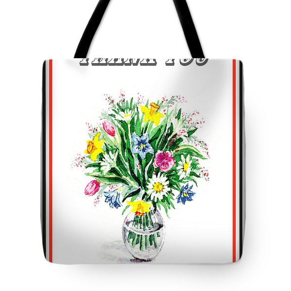 Thank You Flower Bouquet Tote Bag