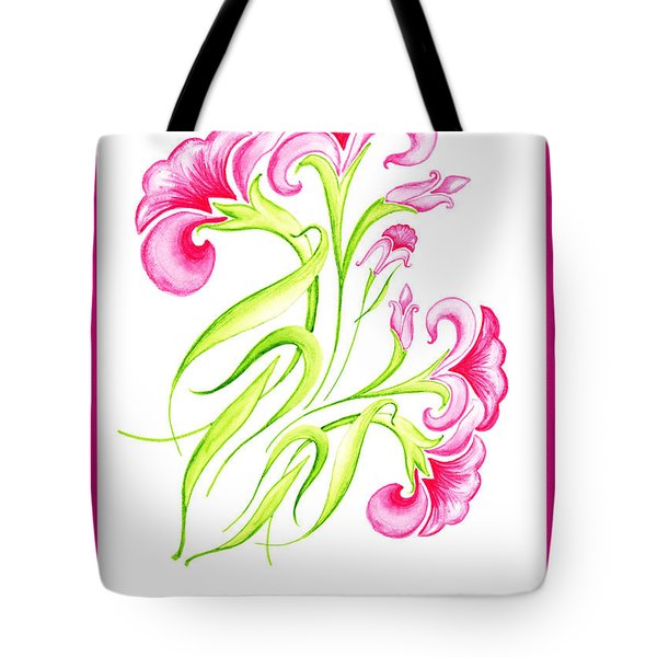 Thank You Pink Flowers Tote Bag