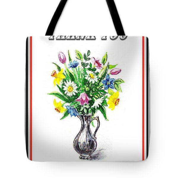 Thank You Spring Flowers Tote Bag
