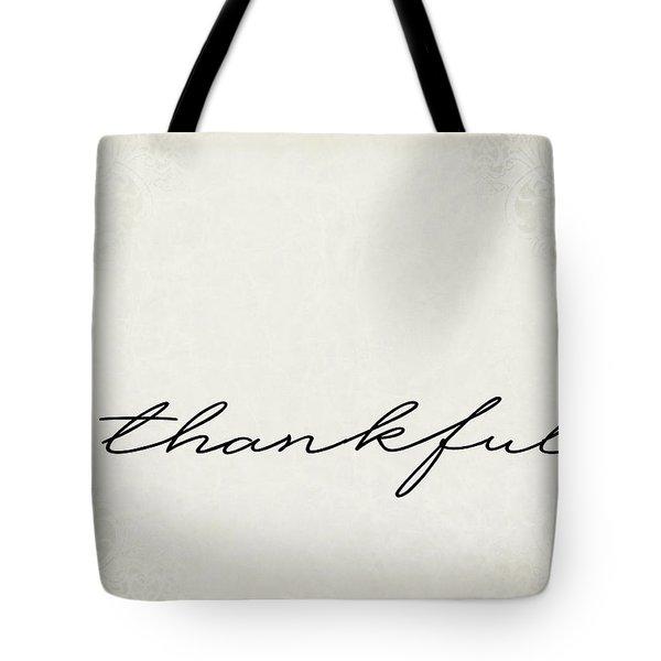 Thankful One Word Series Tote Bag