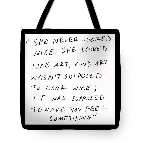 Art Is Not Perfection Tote Bag