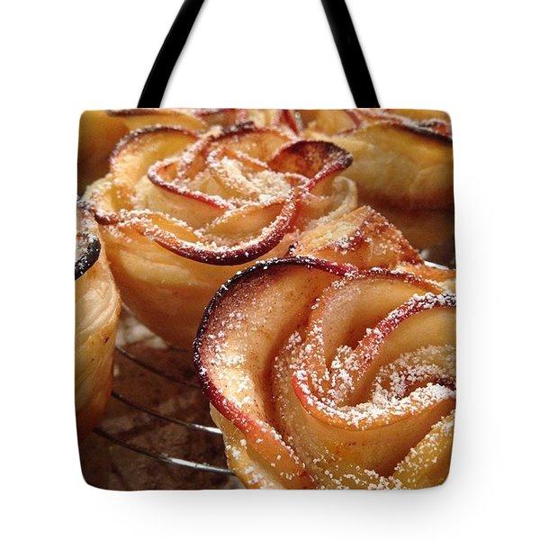 Apple Rose Tote Bag