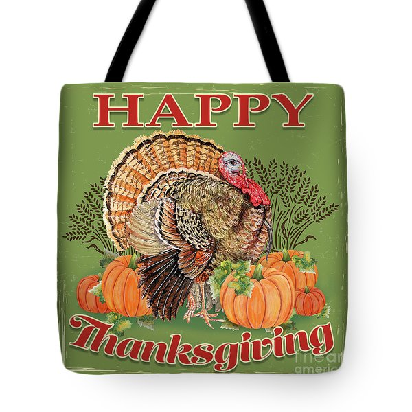Tote Bag featuring the painting Thanksgiving-b by Jean Plout