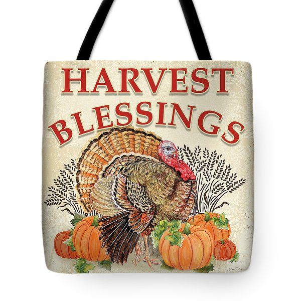 Tote Bag featuring the painting Thanksgiving-e by Jean Plout