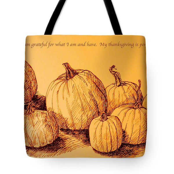 Thanksgiving Pumpkins Tote Bag