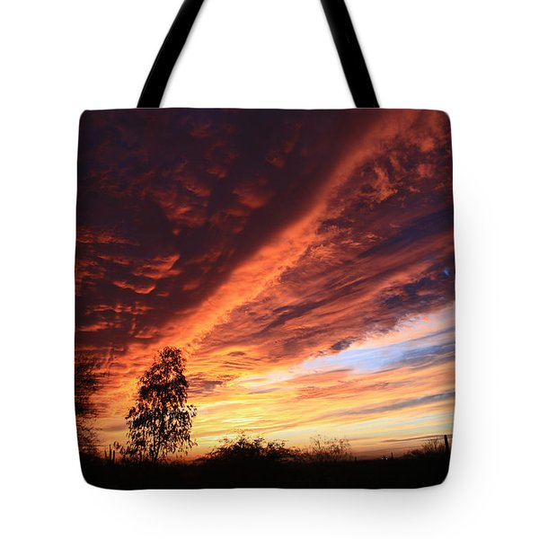 Thanksgiving Sunset Tote Bag