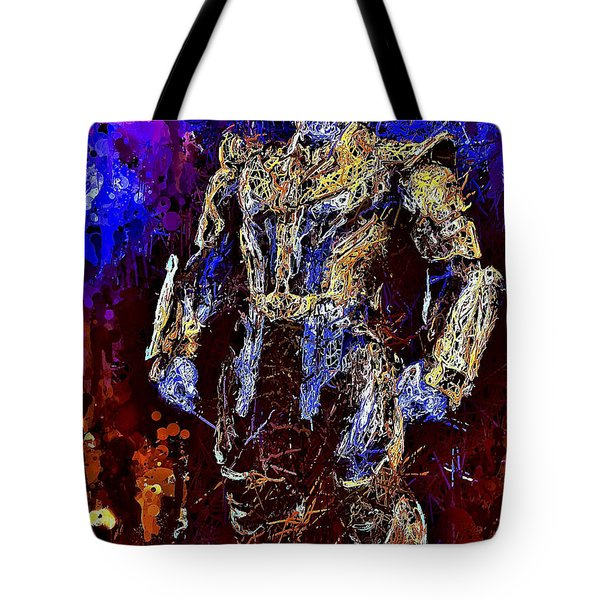 Tote Bag featuring the mixed media Thanos by Al Matra