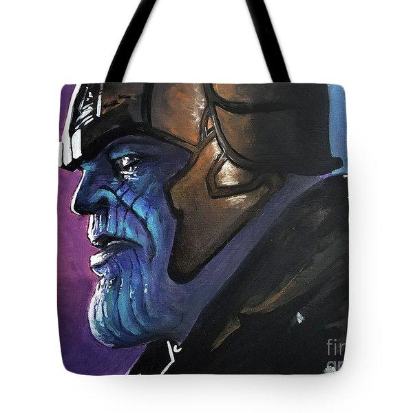 Thanos Tote Bag by Tom Carlton