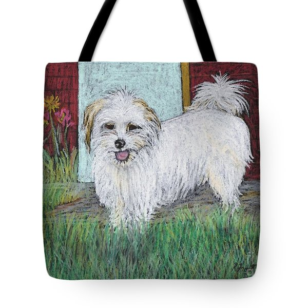 That Little White Dog Tote Bag by Reb Frost