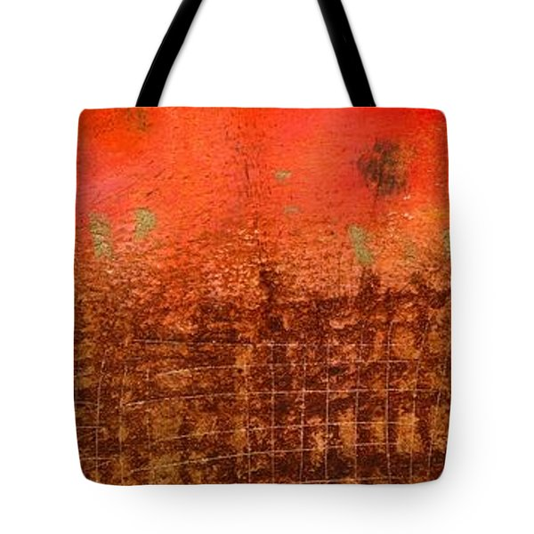 That Long Brown Fence Dividing You And Me Tote Bag by Angela L Walker