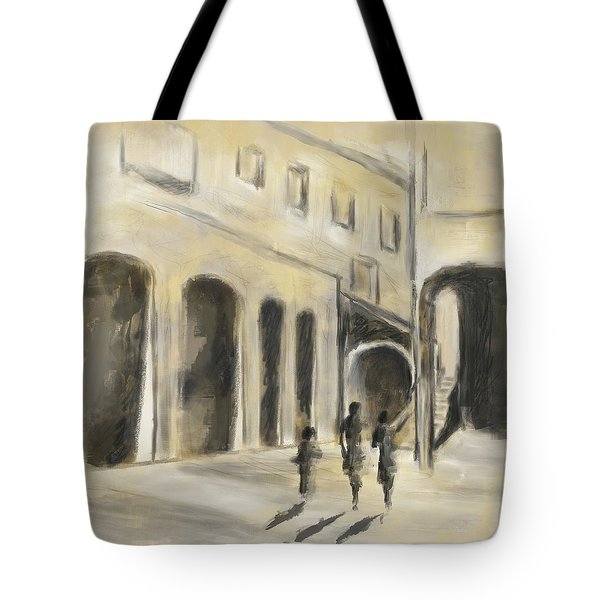 Tote Bag featuring the mixed media That Old House by Eduardo Tavares