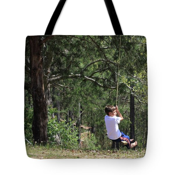 Tote Bag featuring the photograph That Ole' Rope Swing by Kim Henderson