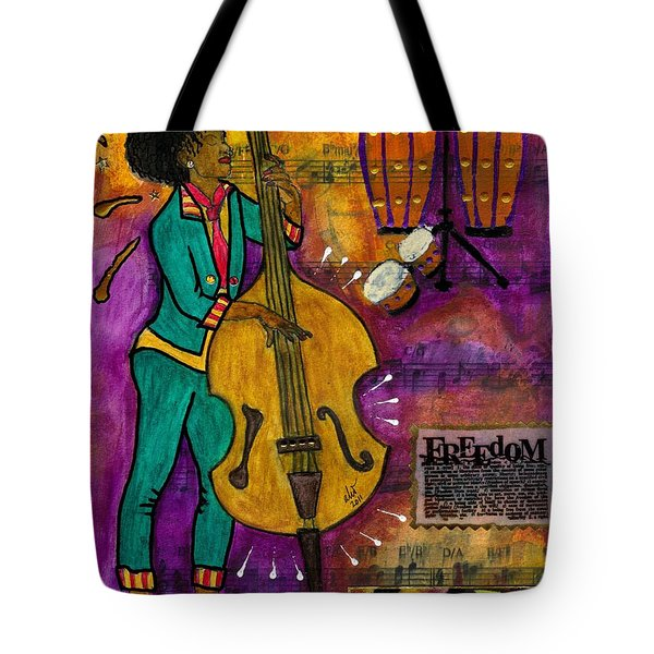 That Sistah On The Bass Tote Bag