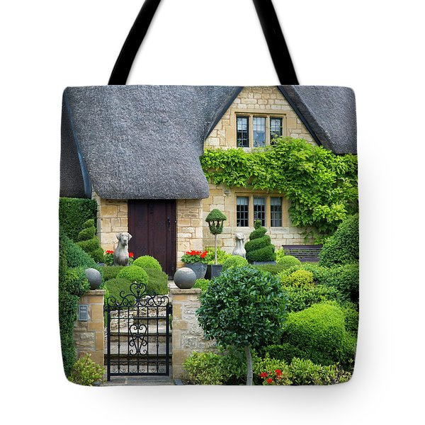 Tote Bag featuring the photograph Thatch Roof Cottage Home by Brian Jannsen