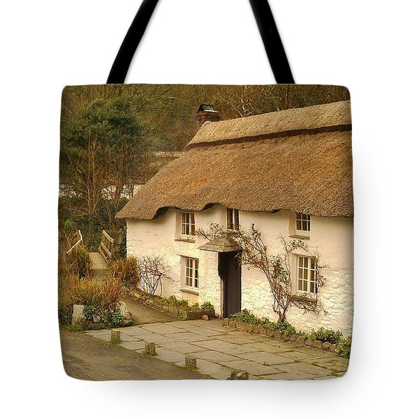 Thatched Cottage By Ford  Tote Bag by Richard Brookes