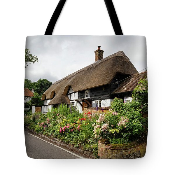Thatched Cottages In Micheldever Tote Bag