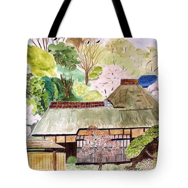 Thatched Japanese House Tote Bag