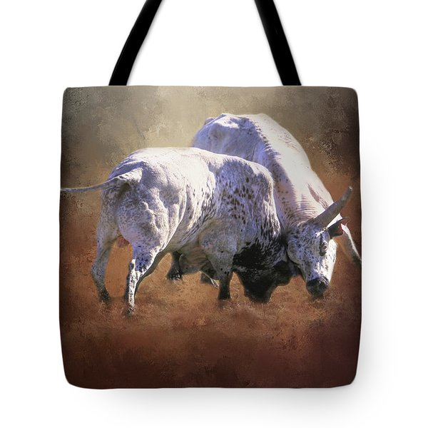 Tote Bag featuring the photograph That's A Lot Of Bull by Donna Kennedy