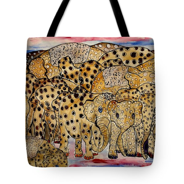 That's Alot Of Elephants Tote Bag