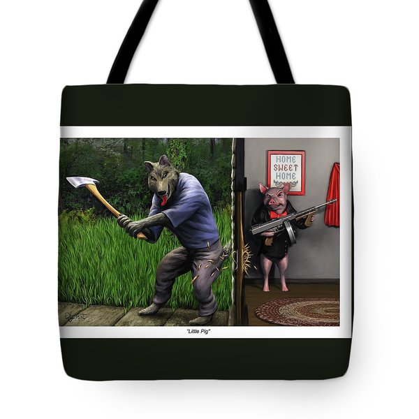 Tote Bag featuring the painting That's What You Think Wolf by Dave Luebbert