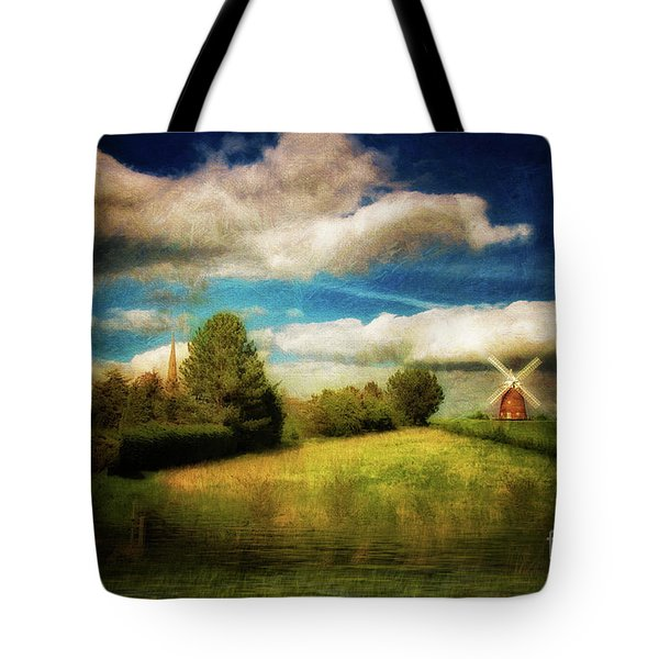 Thaxted With Millpond Tote Bag by Jack Torcello