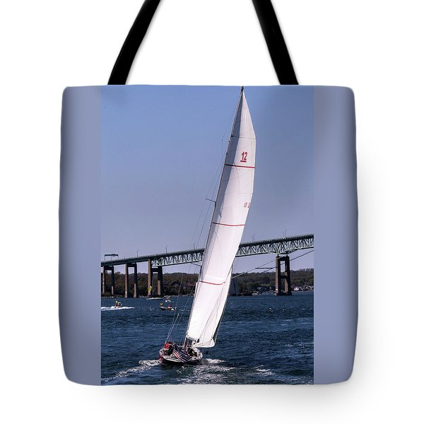 Tote Bag featuring the photograph The 12 Newport Rhode Island by Tom Prendergast