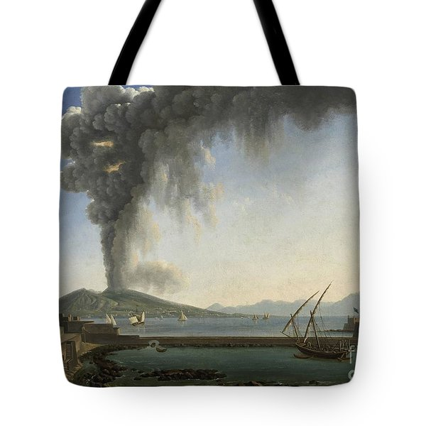 The 1813 Eruption Of Vesuvius Naples Tote Bag