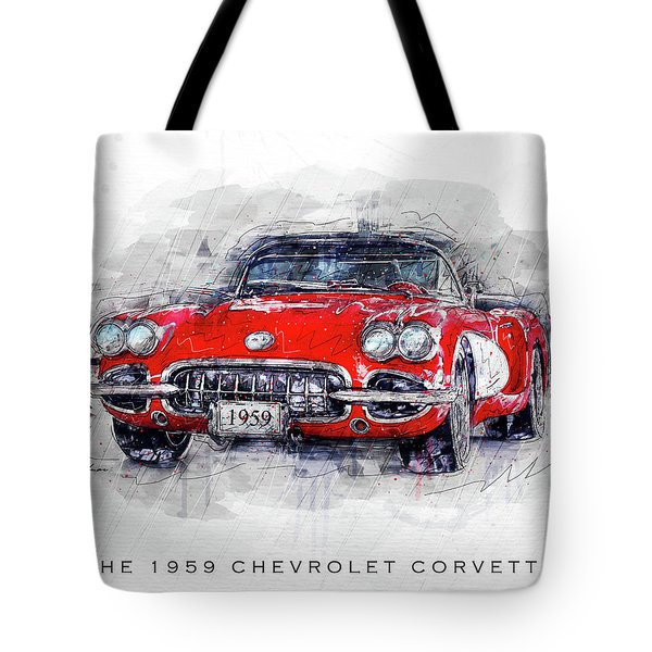 The 1959 Chevrolet Corvette Tote Bag