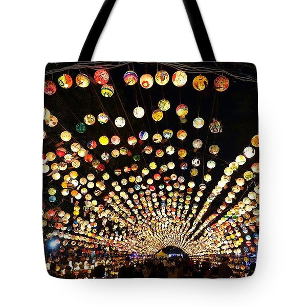 The 2017 Lantern Festival In Taiwan Tote Bag