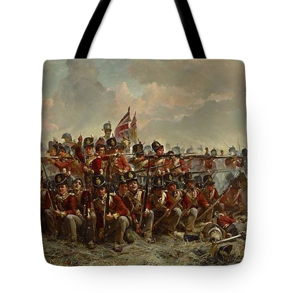 The 28th Regiment At Quatre Bras Tote Bag