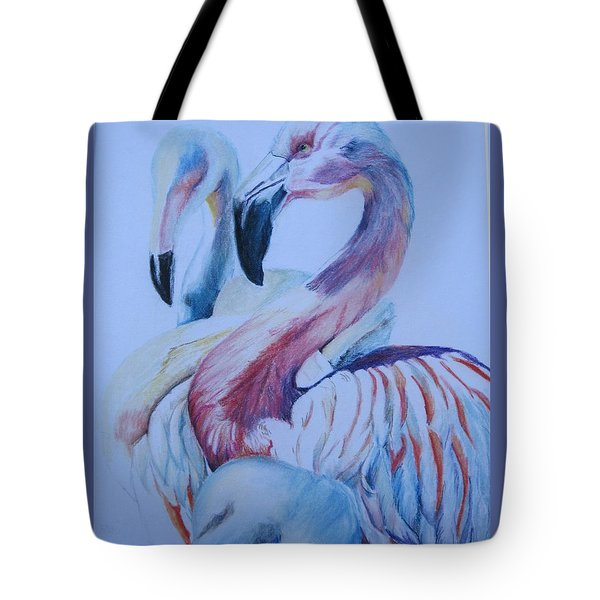 The 3 Flamingos Tote Bag