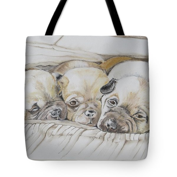 The 3 Puppies Tote Bag