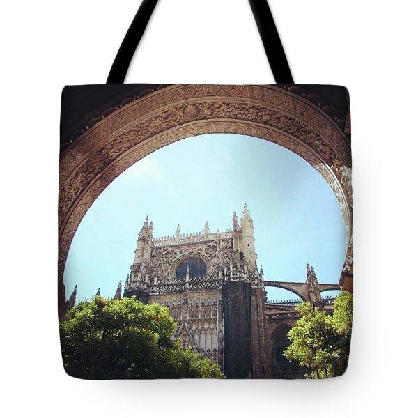 Catedral De Sevilla Tote Bag by Eva Dobrikova