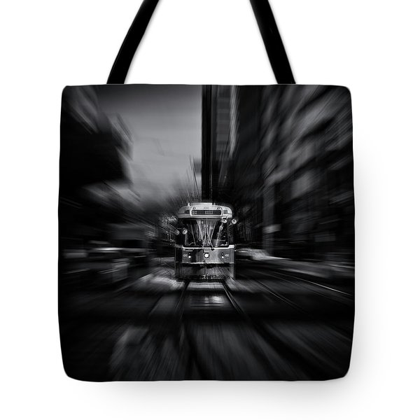The 512 St. Clair Streetcar Toronto Canada Flow Tote Bag by Brian Carson