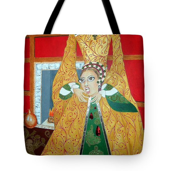 The 5th, Beheaded -- Tudor Portrait, Catherine Howard, #3 In Famous Flirts Series Tote Bag