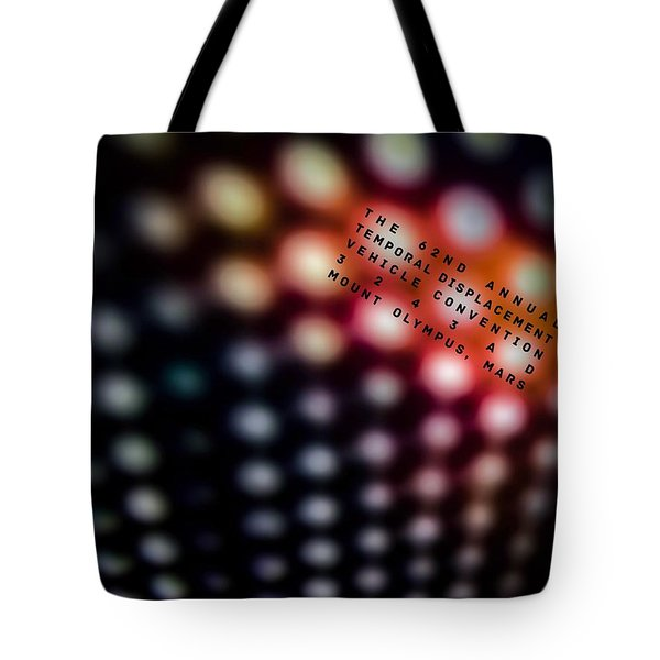 The 62nd Temporal Displacement Vehicle Convention 3243ad Tote Bag