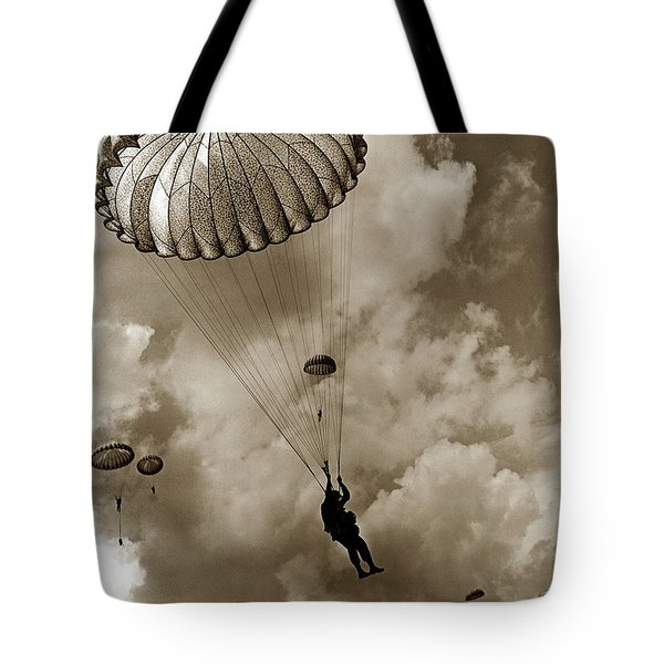 The 82nd Airborne  Hits The Silk Fort Ord 1953 Tote Bag