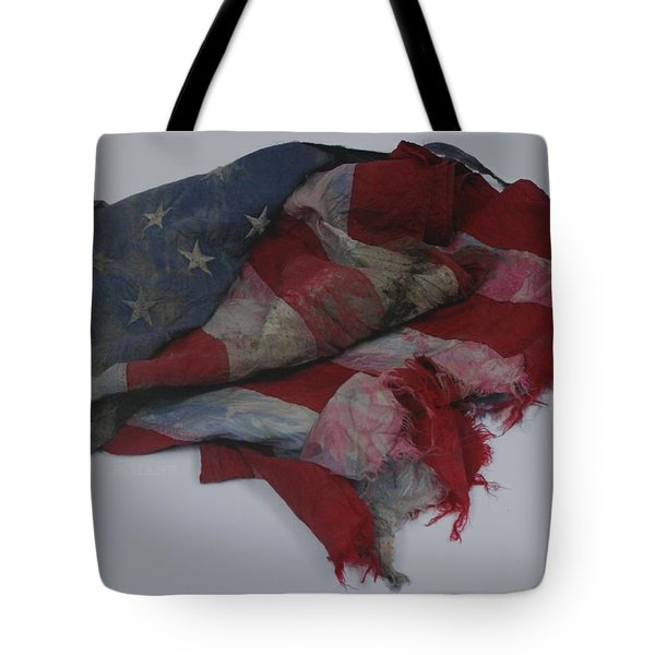 The 9 11 W T C Fallen Heros American Flag Tote Bag by Rob Hans