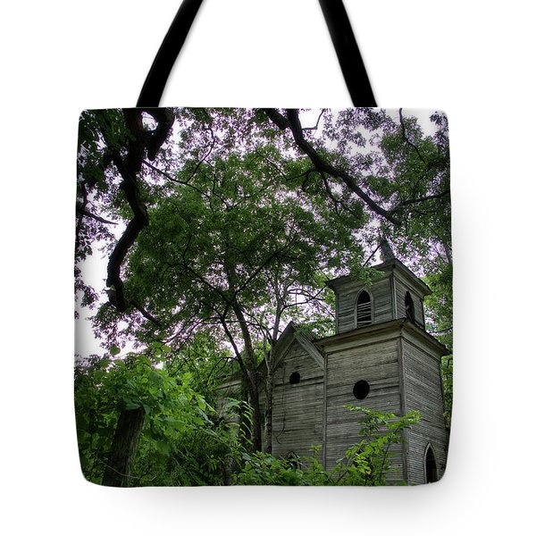 The Abandoned Church Tote Bag