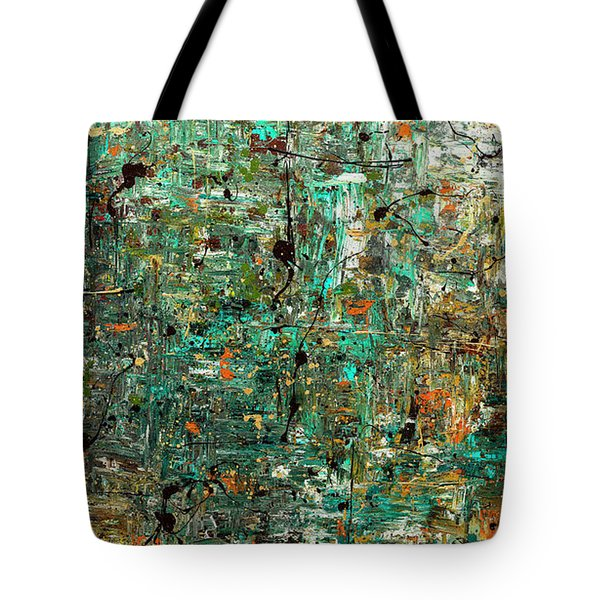 Tote Bag featuring the painting The Abstract Concept by Carmen Guedez